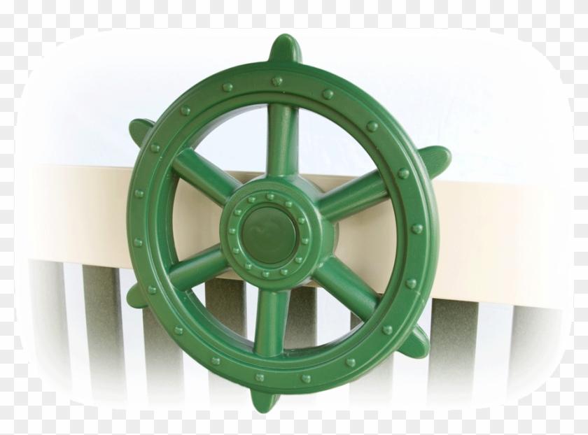 Green Ship's Wheel - Ship's Wheel, HD Png Download (#4561770