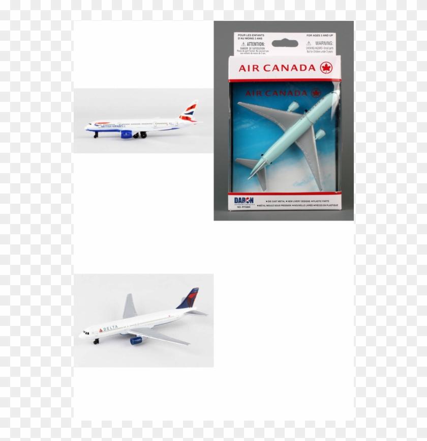 Authentic British Airways Air Canada Delta Airlines - Toy Air Canada Clipart #4571777