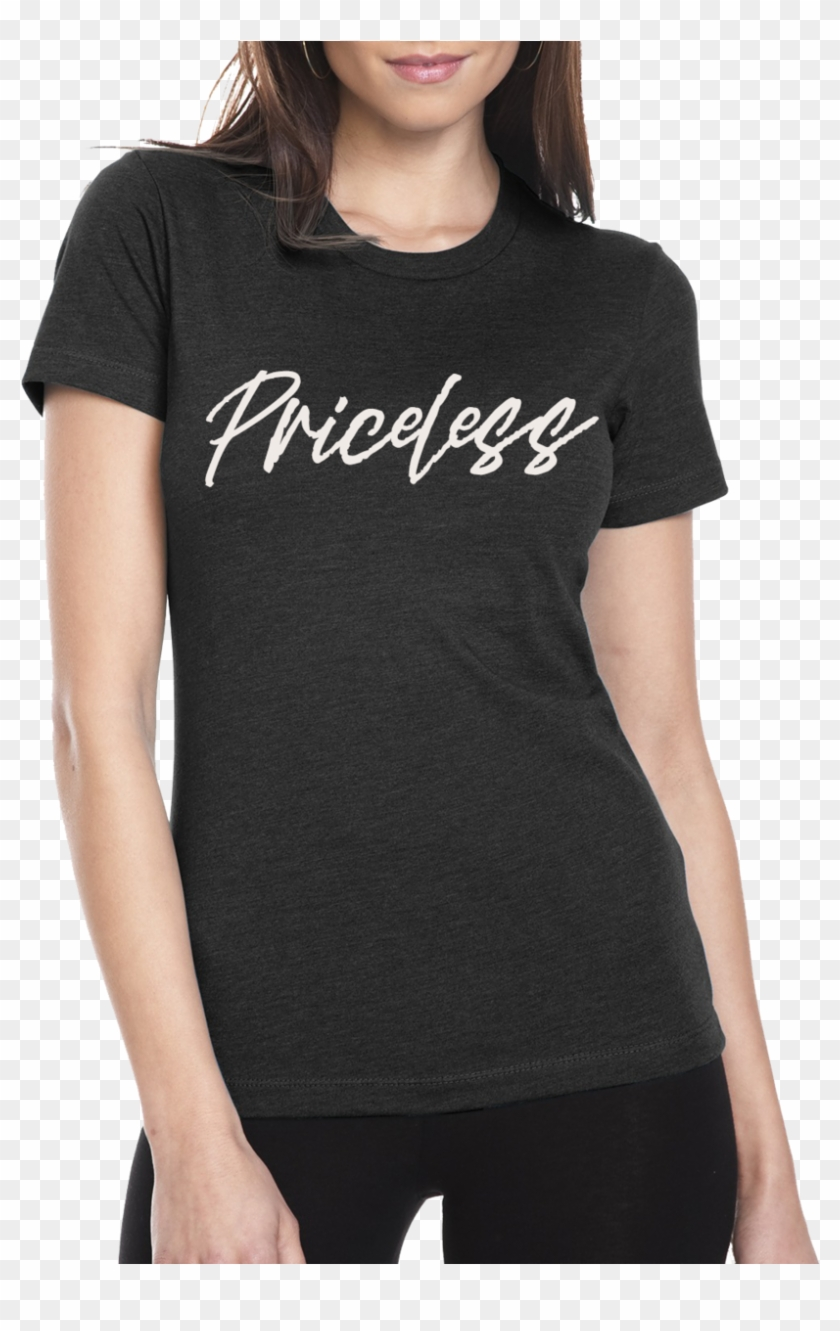 Priceless T Shirt - Blue T Shirt Women Clipart #4574726