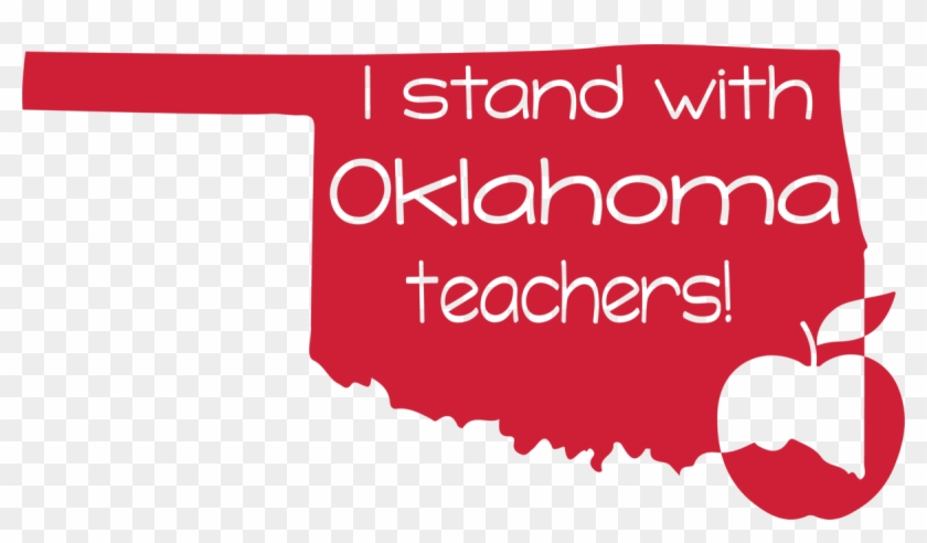 I Stand With Oklahoma Teachers Svg Png Dxf Digital - Graphic Design Clipart #4575048