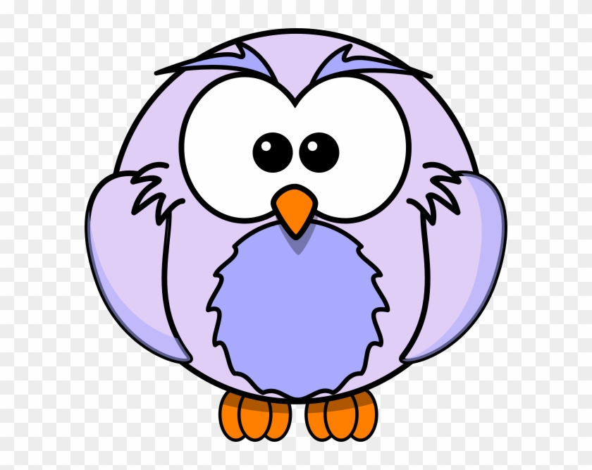 Light Purple Owl Cartoon Clip Art - Printable Owl Coloring Pages - Png Download #4580303