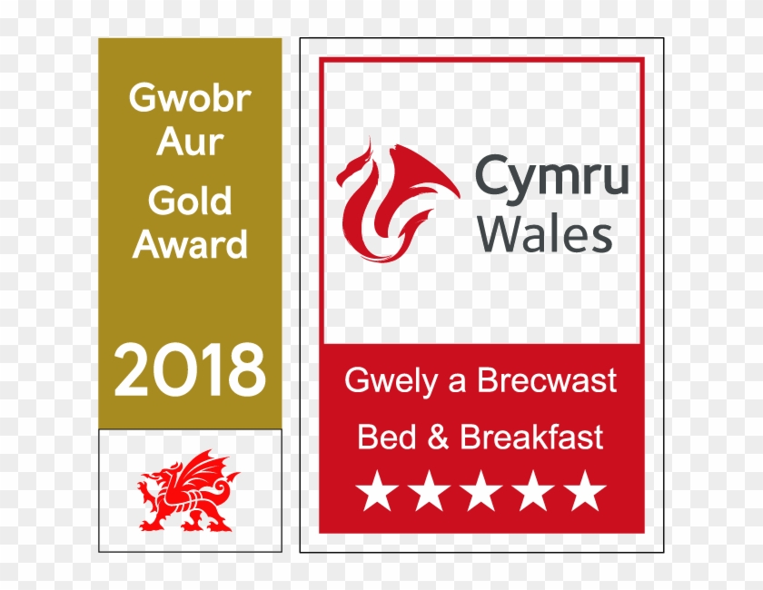 Visit Wales 5 Star Clipart #4580480