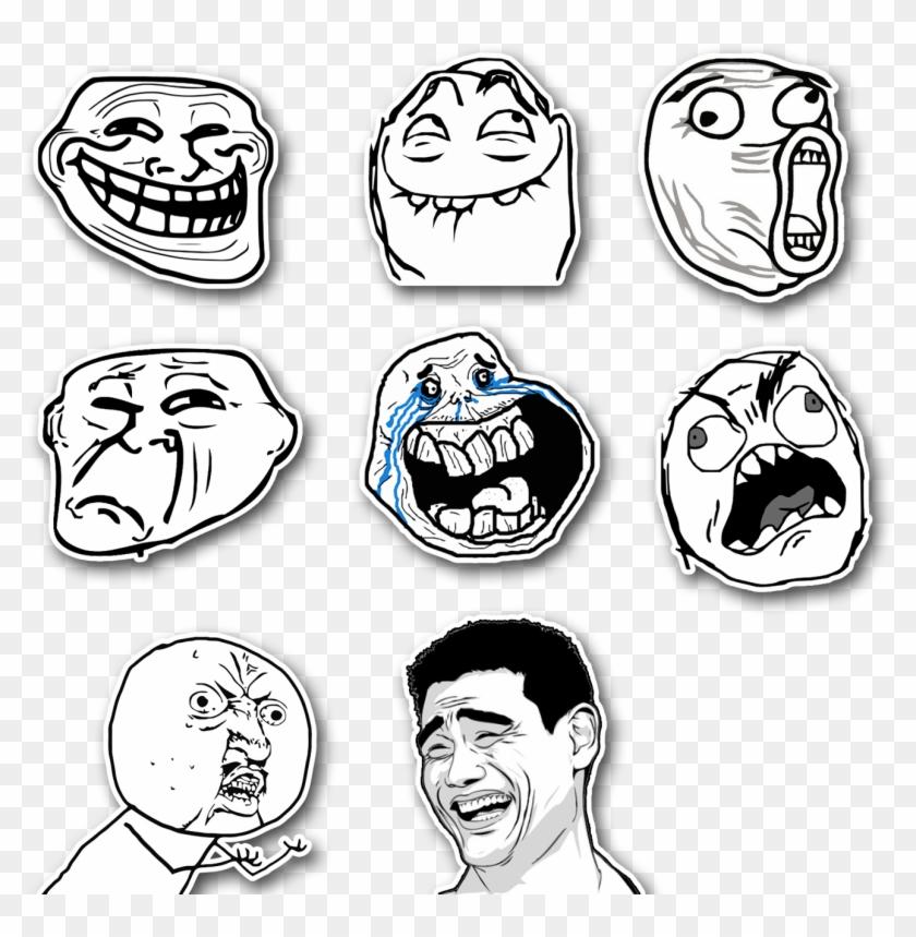 Troll Faces - Cartoon Clipart #4583446