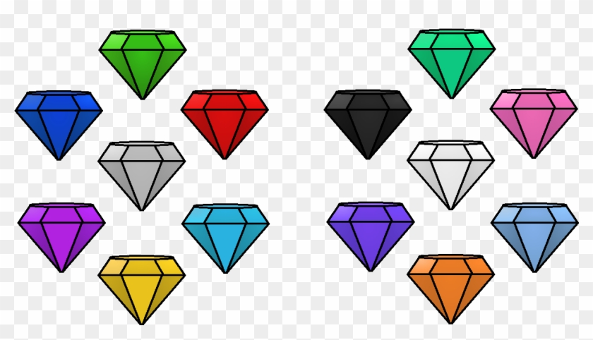 Emerald Clipart Chaos - All Colors Chaos Emeralds - Png Download #460795