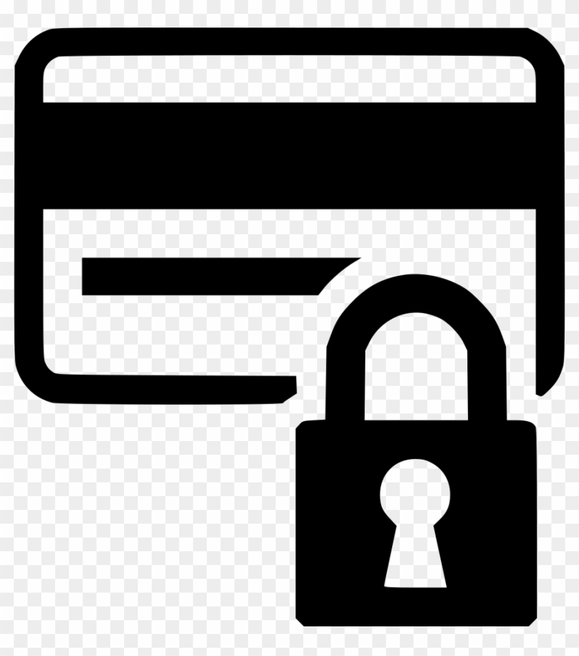 Secured Credit Card Comments - Card Icon Png Lock White Clipart #463481