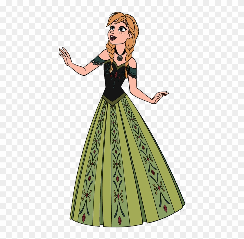 Vero Falange salario  Clip Library Library Image Png Little Mermaid Parodies - Frozen Anna Green  Dress Clipart Transparent Png (#463698) - PikPng