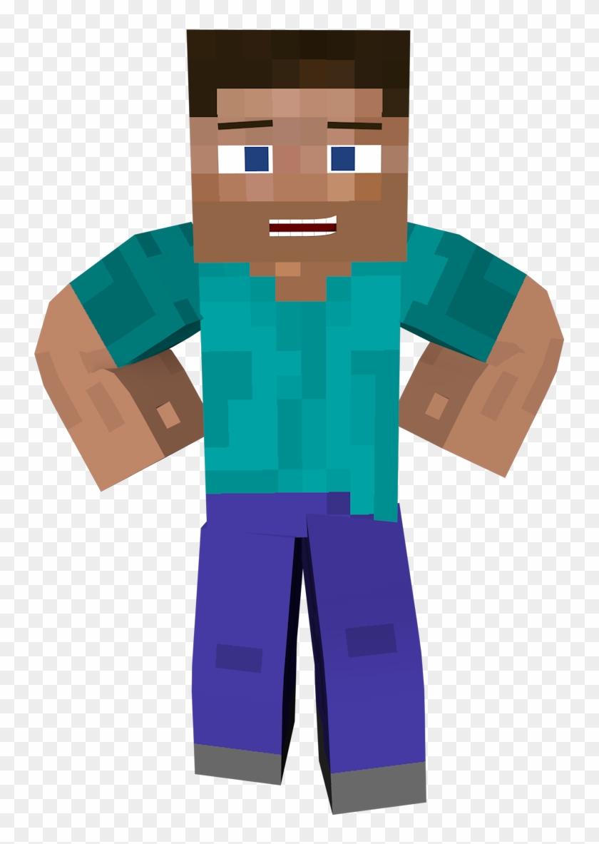 Minecraft Steve Skin Render Clipart 466441 Pikpng