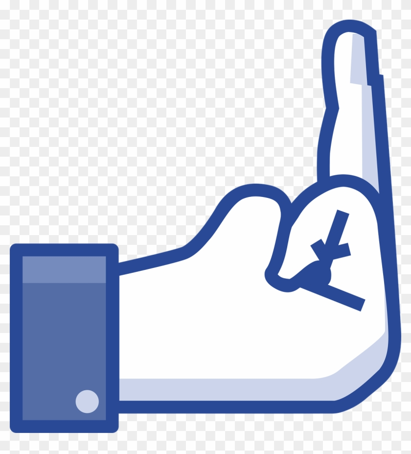 """A Facebook """"like"""" Hand With The Middle Finger Raised - Facebook Middle Finger Clipart #467546"""