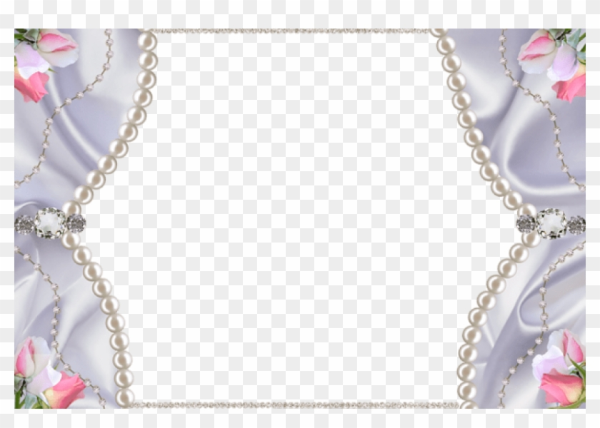 Free Png Best Stock Photos Delicateframe With Pearls - Diamond And Pearls Background Clipart #467840