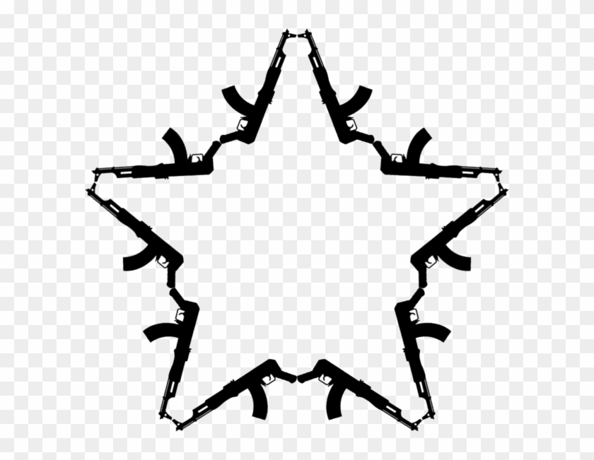 Ak - Ak 47 Star Tattoo Clipart #469769