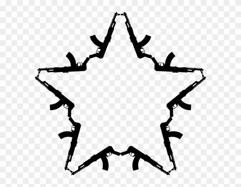 Ak - Ak 47 Star Tattoo, HD Png Download #469769