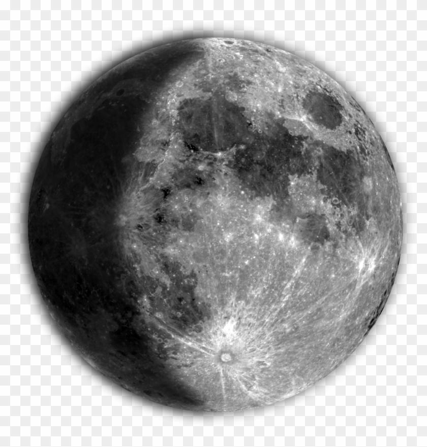 Full Moon Tattoo - Detailed Full Moon Tattoo Clipart #4600934