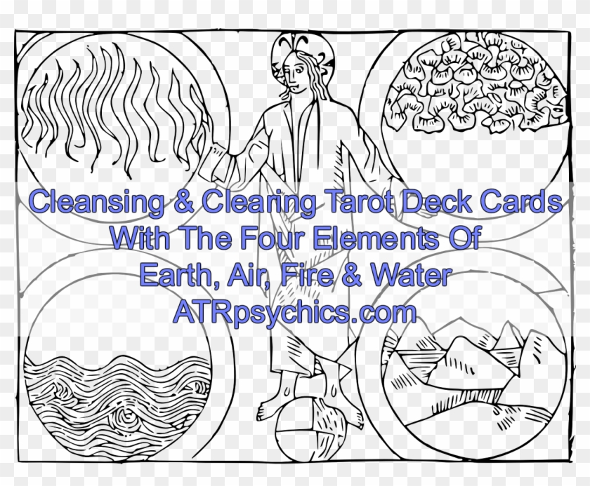 Cleansing & Clearing Tarot Deck Cards With The Four - 4 Elemente Clipart #4626979