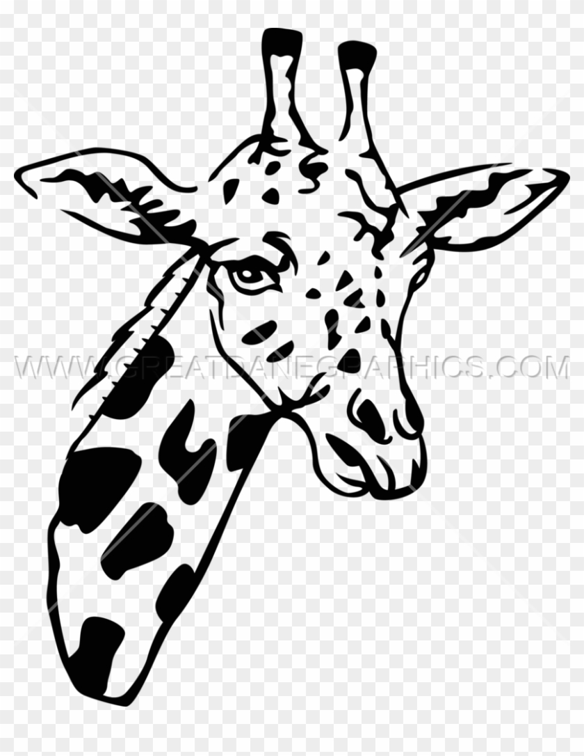Alternative Images For Shark With Mouth Open Drawing - Giraffe Head Art Png Clipart #4628374