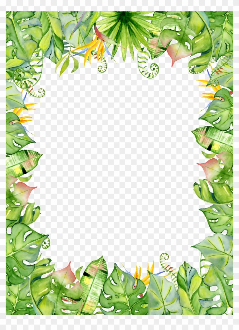 Summer Border Png Transparent Background Tropical Leaf Png Clipart 4632025 Pikpng Simple blue border, frame, text, simple border png transparent clipart image and psd file for free download. summer border png transparent