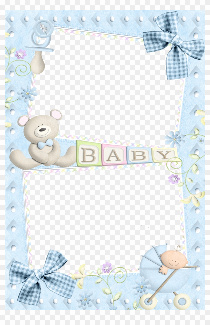 Photo Layers, Frame Template, Baby Boy Photos, Borders - Baby Frames For Photoshop Clipart #4632872