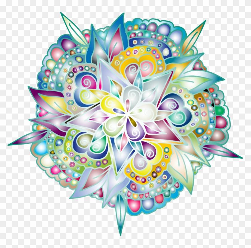 Floral Design Drawing Line Art Flower - Illustration Clipart #4642381