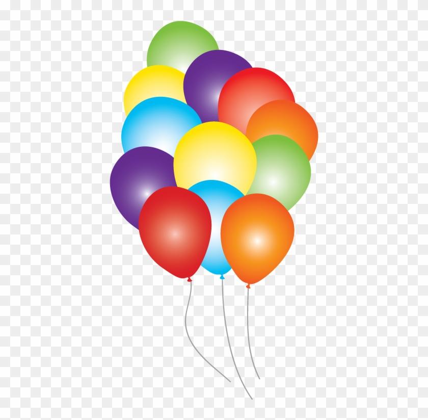 Ballons Clipart 12 Balloon - Rainbow Balloons Transparent - Png Download #4648936