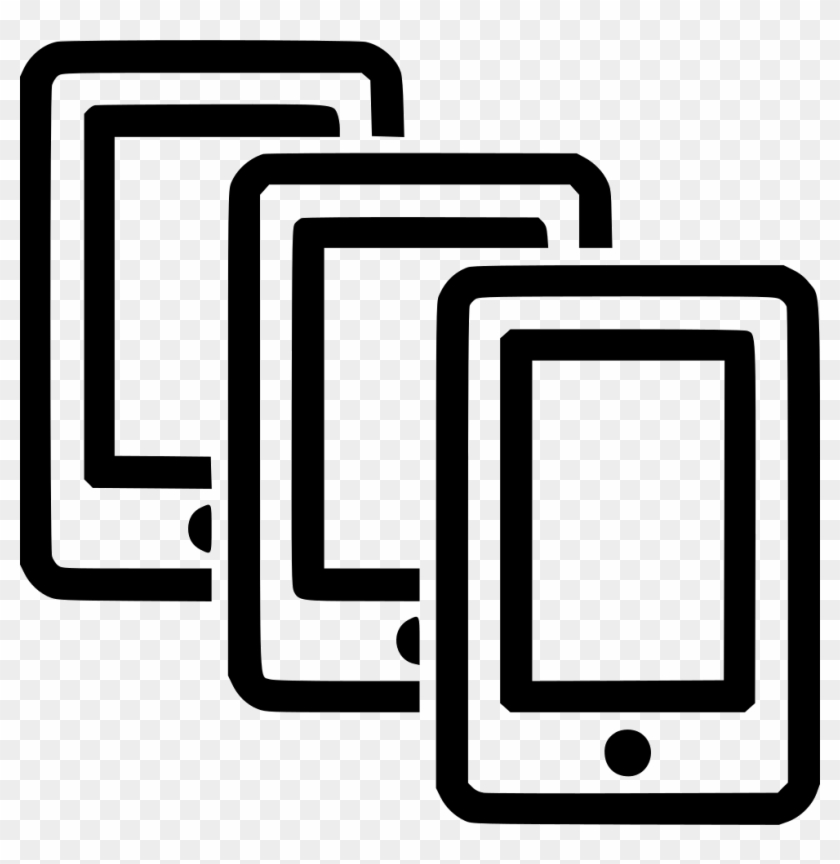 Multiple Smartphones Comments - Multiple Smartphone Icon Clipart #4671005
