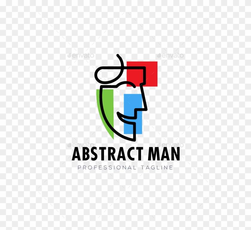 Abstract Man Face Logo - Graphic Design Clipart #4671321