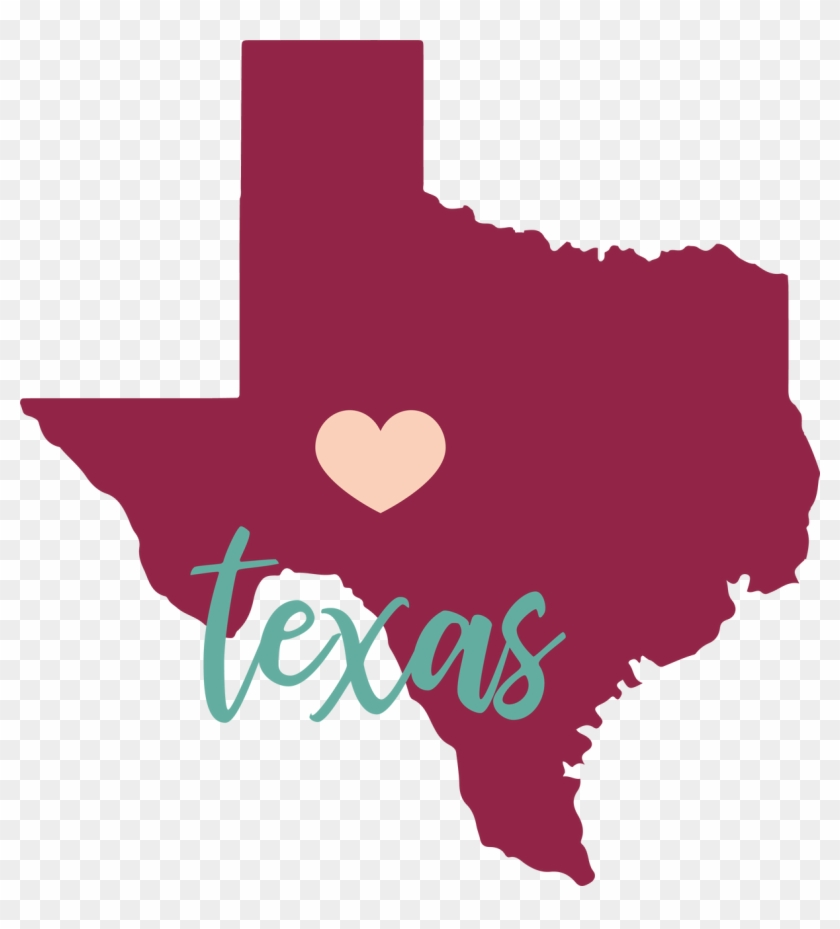 Texas State Svg Cut File - Texas Map Clipart #4675812