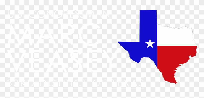 Congressman Marc Veasey - Clipart Texas State Outline Flag - Png Download #4675985