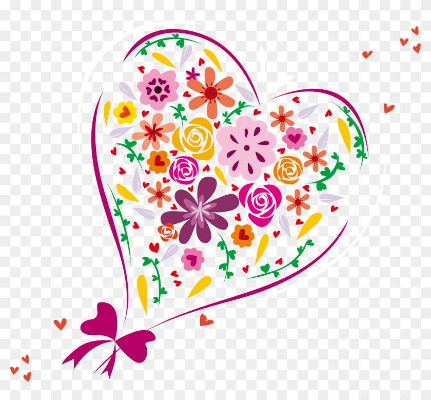Clipart Royalty Free Heart Euclidean Clip Art Shaped - Flower Vector Love - Png Download #4683040