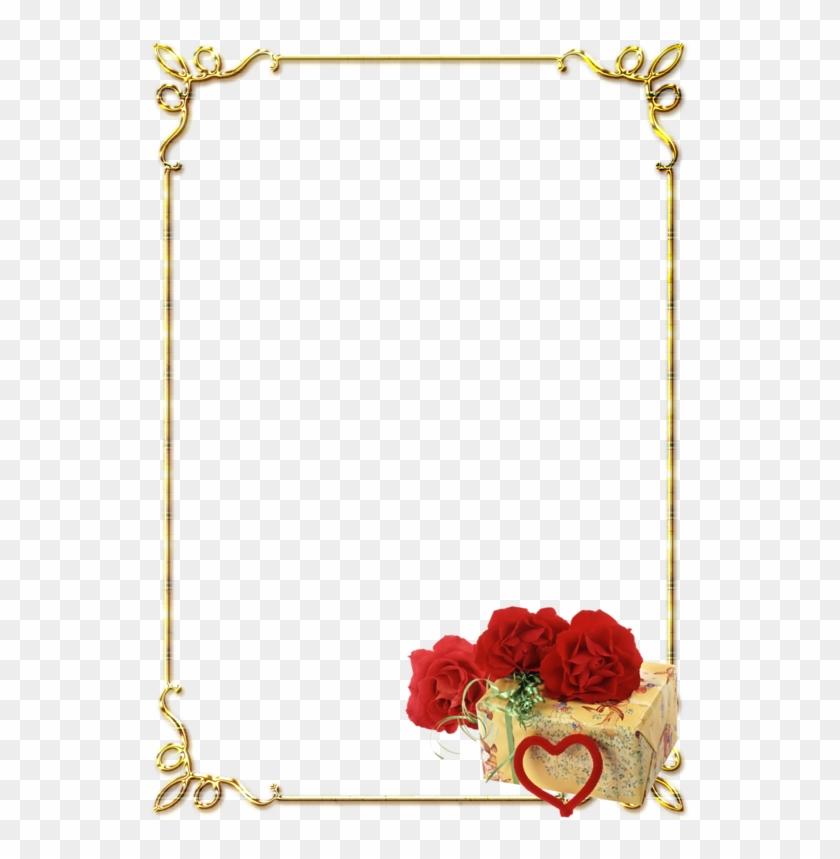 Frames Png, Photoshop Design, Adobe Photoshop, Wedding - Rose Flower Border Design Clipart #4689139