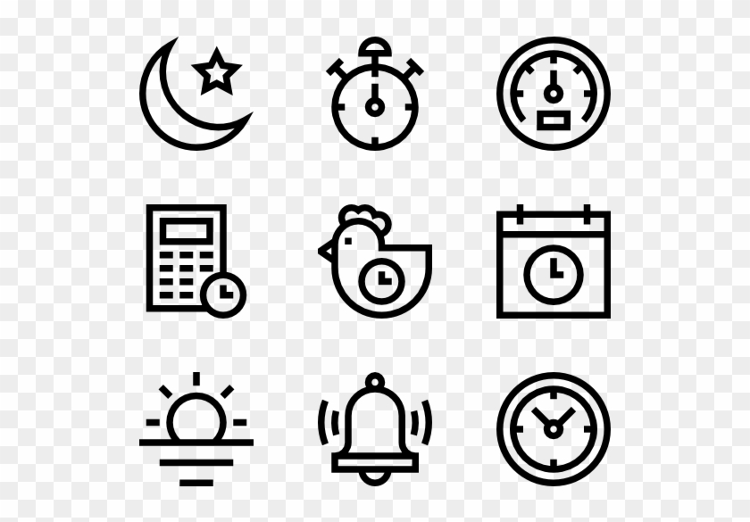 Time - Hand Drawn Icons Png Clipart #4696048