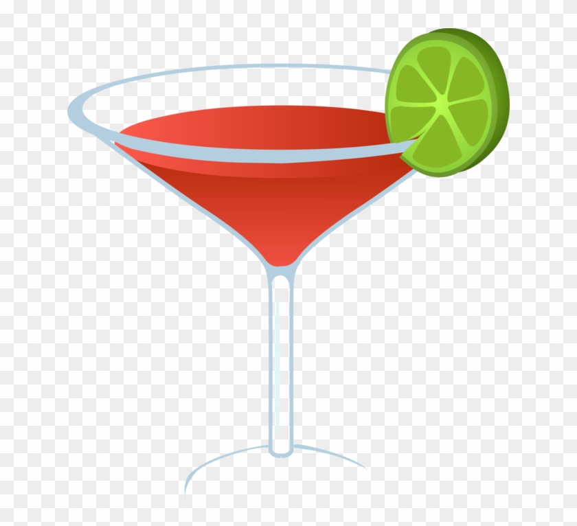 Martini Cocktail Margarita Alcoholic Drink Cosmopolitan - Martini Glass Clipart With Lime - Png Download #475349