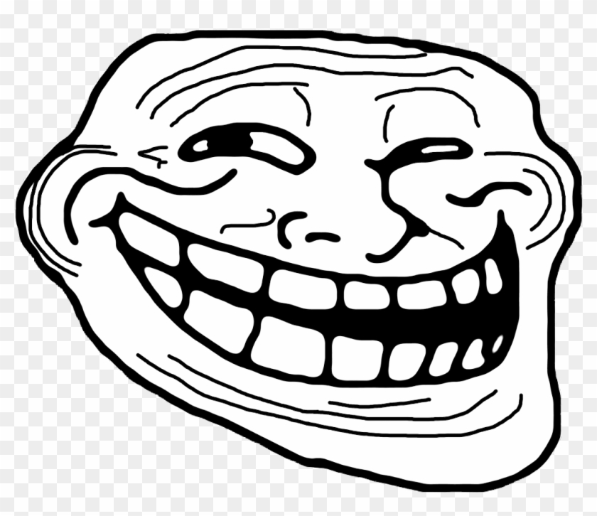 Trollface Transparent Background For Free Download - Transparent Background Troll Face Png Clipart #476368