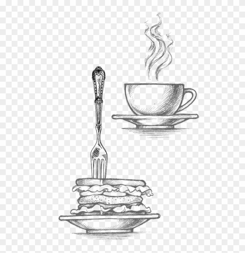 And Enjoy Our All You Can Eat Weekend Brunch On Saturday - Illustration Sketch Sketch Breakfast Clipart #476999