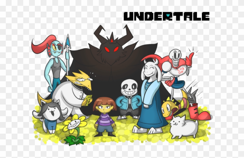 Undertale Coloring Pages Undertale Characters In Color Clipart 477430 Pikpng