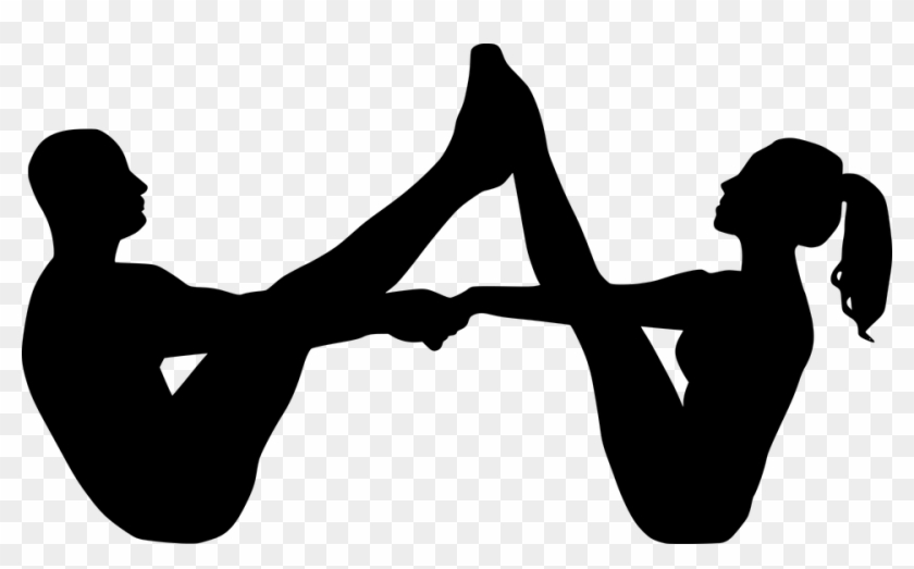 Yoga Couple Sport Fit Fitness Pose Silhouette Yoga Couple Silhouette Clipart 4704386 Pikpng