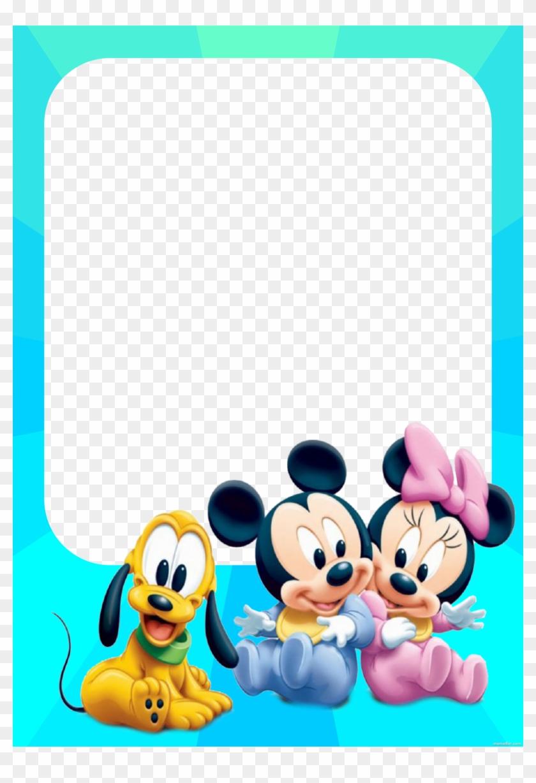 Marco De Fotos De Bebés Mickey Mouse, Minnie Mouse - Mickey Mouse Y Minnie Baby Clipart #4705401