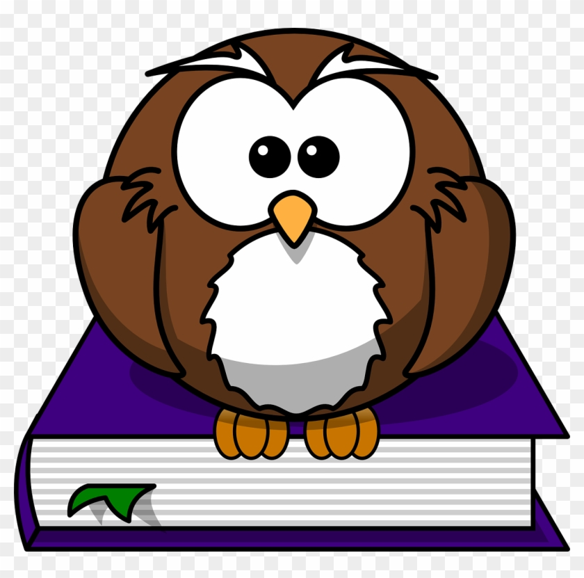 Literature Library Reading Owl Png Image - Cartoon Owl Clipart #4708947