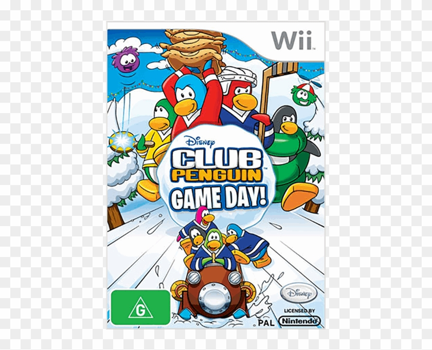 Club Penguin Game Day Wii Clipart #4716095
