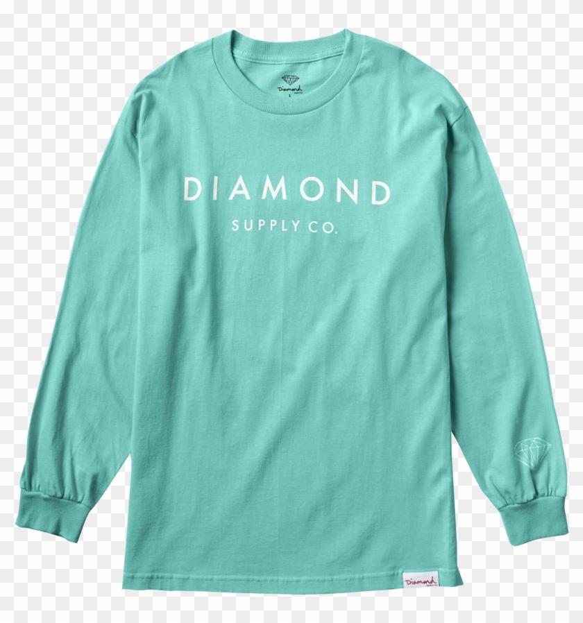 Diamond Supply Co - Long-sleeved T-shirt Clipart #4720115