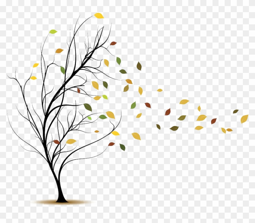 Blowing Leaves Png Tree Blowing In The Wind Png Clipart 4721606 Pikpng