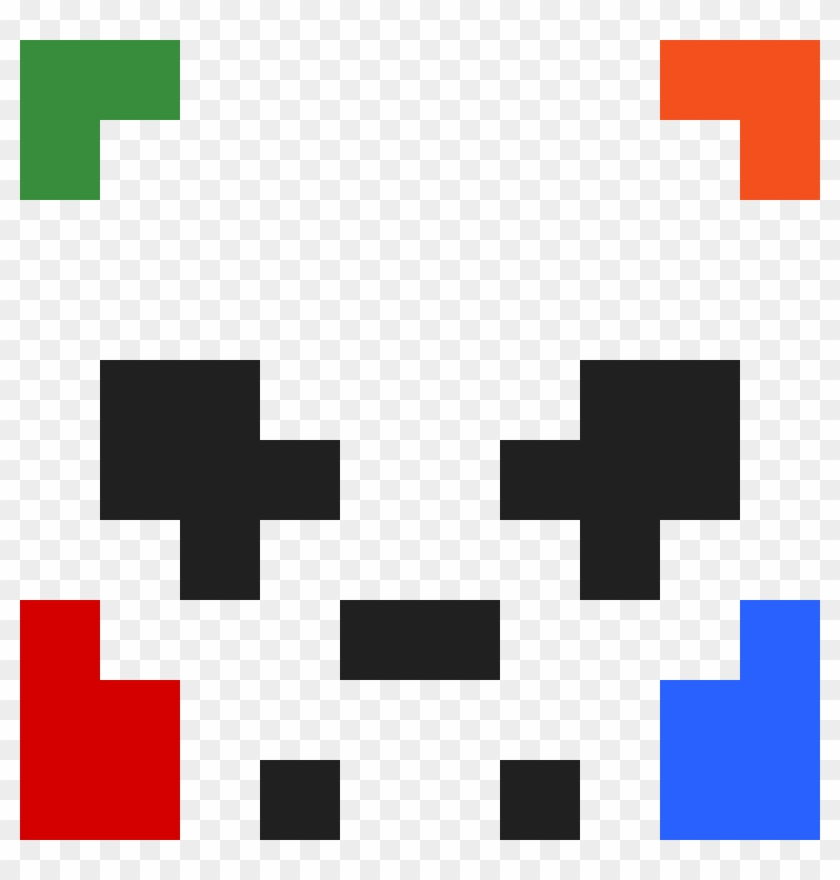 Skull Pixel Art Pretty Panda Clipart 4724457 Pikpng