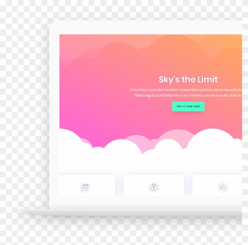 Laptop Clouds Copy - Graphic Design Clipart #4725326