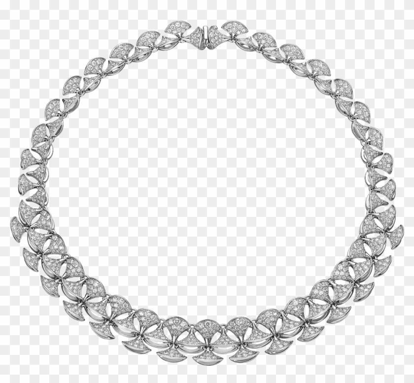 Divas' Dream Necklace In 18 Kt White Gold Set With - Bvlgari Necklace Diva Diamond Clipart #4727281