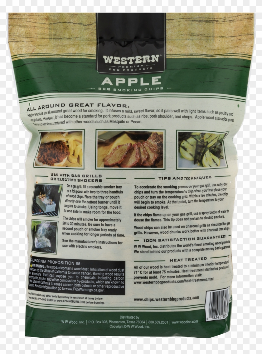Western Premium Bbq Products Apple Bbq Smoking Chips, - Farfalle Clipart #4729553