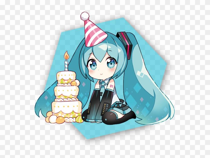 Miku Kawaii Happy Birthday Anime Clipart 4749120 Pikpng