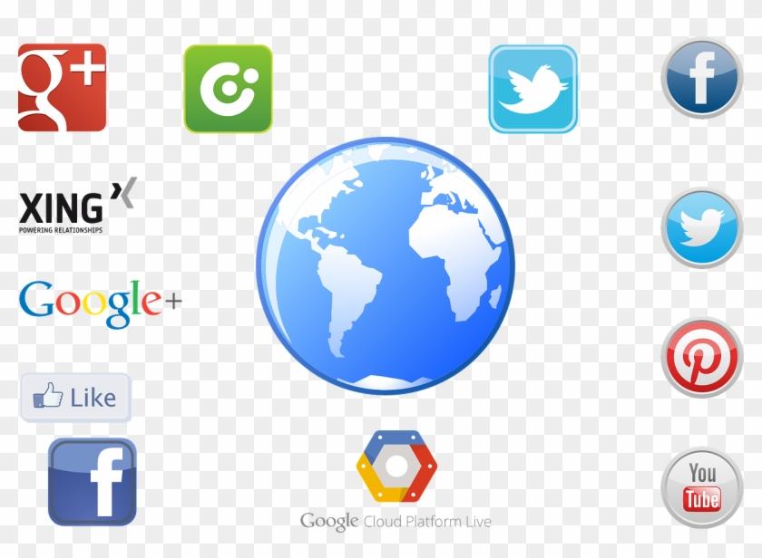 Social Networks,icon Media,free - Infografia Servicios De Internet Clipart #4757564