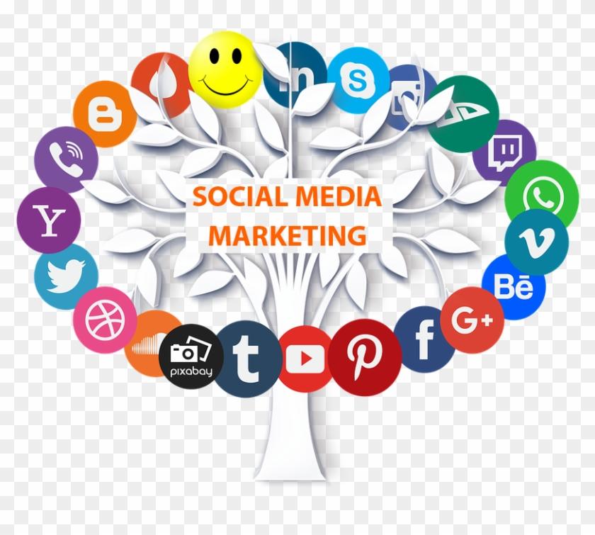 Offline Store Via Social Media Platforms Like Facebook, - Transparent Background Social Media Icons Png Clipart #4757728