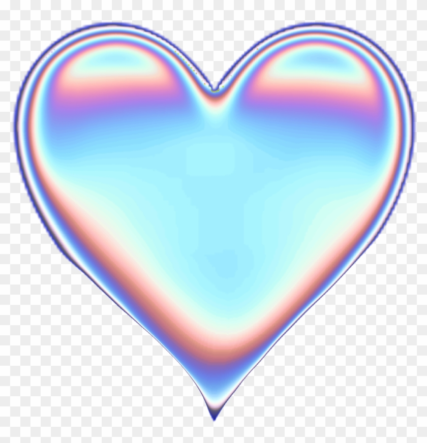 Holographic Heart Png - Holographic Heart Transparent Background Clipart #4764591