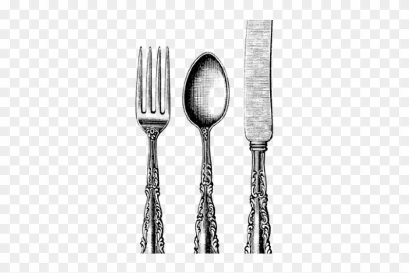 Fork Png Transparent Images - Vintage Knife Fork And Spoon Clipart@pikpng.com