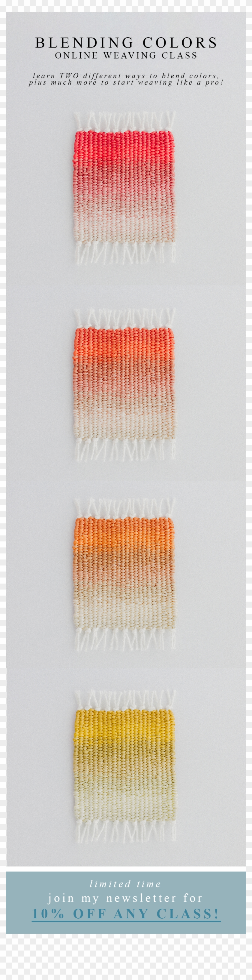 Weaving Gradient Colour - Thread Clipart #4777046