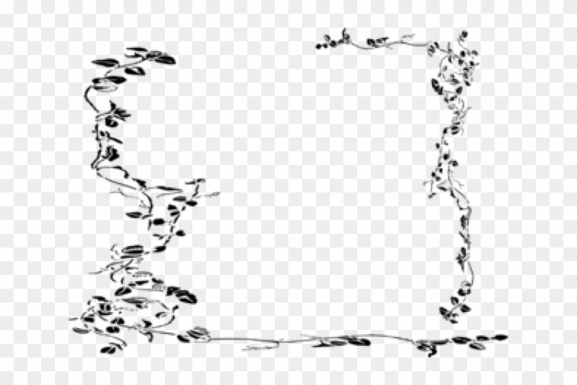 Vines Clipart Border - Vine Border Black And White - Png Download #4777127